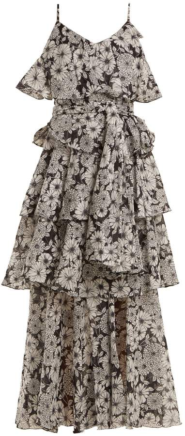 Lisa Marie Fernandez Imaan ruffled floral-print cotton dress
