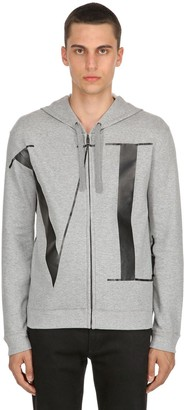 Valentino Vltn Logo Zip-Up Cotton Sweatshirt