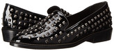 The Kooples Patent Leather Slippers with Pyramid Studs