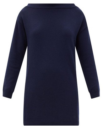 Valentino Boat-neck Cashmere Sweater - Navy