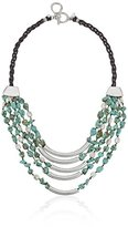 """Robert Lee Morris Let's Turquoise About It"""" Semiprecious Turquoise Stone Multi-Row Necklace, 18"""""""