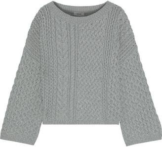 Jason Wu Cable-knit Cotton-blend Sweater
