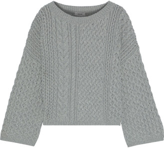 Jason Wu Collection Cable-knit Cotton-blend Sweater