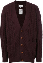 Maison Margiela cable knit cardigan - men - Wool - M