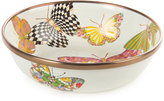 Mackenzie Childs MacKenzie-Childs White Butterfly Garden Relish Dish