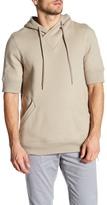 Helmut Lang Short Sleeve Hooded Sweatshirt