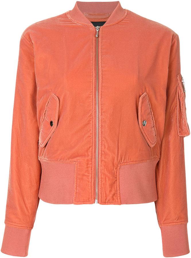 Designers Remix velvet bomber jacket