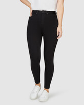 Thumbnail for your product : Jeanswest Women's High-Waisted - Freeform 360 Contour Curve Embracer High Waisted Skinny 7-8 Jeans Black - Size One Size, 10 Regular at The Iconic