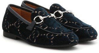 Gucci Kids GG velvet loafers