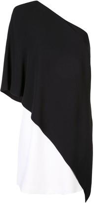 Givenchy one shoulder shift dress