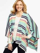 Talbots Stripes Ruana Wrap