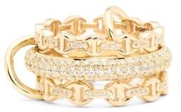Spinelli Kilcollin X Hoorsenbuhs Microdame Diamond & 18kt Gold Ring - Gold