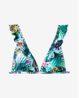 Express ruffle strap triangle bikini swim top
