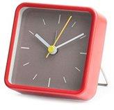 Kikkerland Square Alarm Clock, Red
