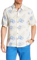 Toscano Short Sleeve Silk Print Regular Fit Shirt