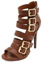 Charlotte Russe Strappy Belted High Heel Sandals