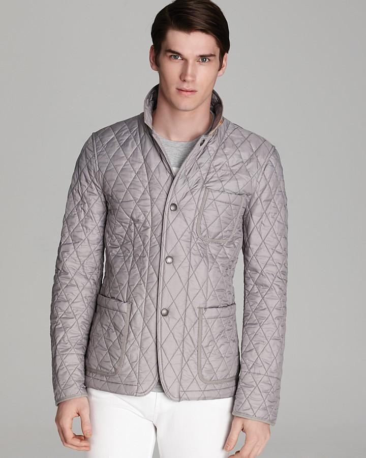 Burberry Howe Quilted Blazer Jacket in Black