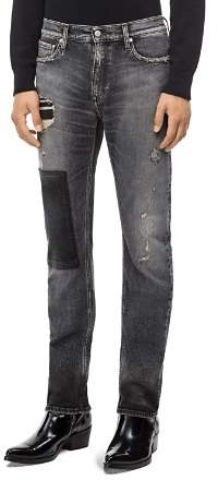 Calvin Klein Jeans Patched Slim Fit Jeans in Monly Patch Black