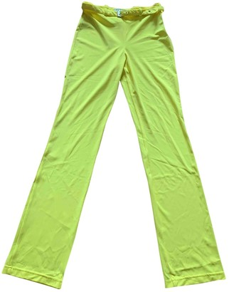 Gianni Versace Yellow Trousers for Women Vintage