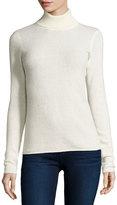 Neiman Marcus Cashmere Basic Turtleneck Sweater, Ivory