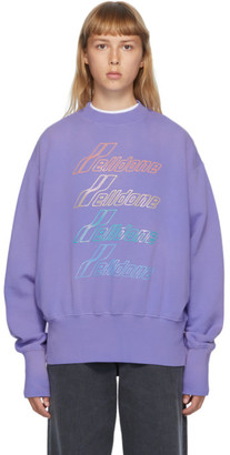 we11done Purple Iridescent Logo Sweatshirt