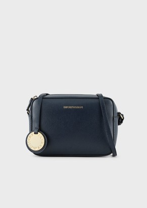 Emporio Armani Mini Shoulder Bag In Faux Nappa Leather