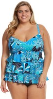 Penbrooke Plus Size Shell A GoGo Triple Tier Tankini Top - 8150465