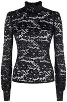 L'Agence Samara High Neck Lace Top