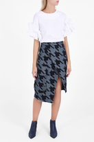 Marques Almeida Houndstooth Pencil Skirt