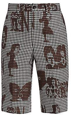 Comme des Garcons Women's Mixed Print Gingham Check Shorts