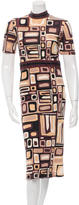 Emilio Pucci Printed Mock-Neck Midi Dress