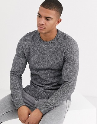Jack and Jones Essentials structured knitted sweater in mixed yarn