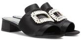 Roger Vivier Satin embellished sandals