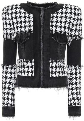 Balmain Houndstooth cotton-blend jacket