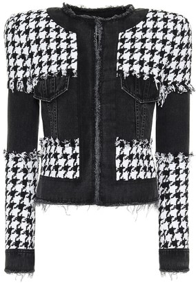 Balmain Houndstooth cotton-blend jacket
