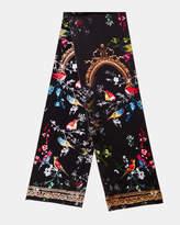 Ted Baker Opulent Fauna skinny silk scarf