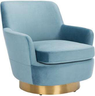 Safavieh Couture Pyrite Velvet Swivel Chair