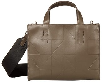Ecco Signature Line Mini Handbag (Warm Grey) Handbags