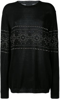 Laneus studded pattern sweatshirt - men - Cotton - 46