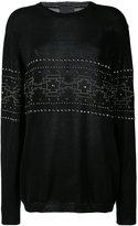 Laneus studded pattern sweatshirt