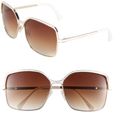 Vince Camuto 60mm Square Metal Sunglasses