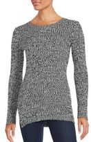 BCBGeneration Rib-Knit Long Sleeve Pullover