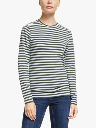 John Lewis & Partners Long Sleeve Cotton Stretch Breton T-Shirt
