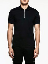 Calvin Klein Platinum Interlocked Zip Polo Shirt