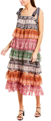 Zimmermann Tiered Silk-Blend Midi Dress