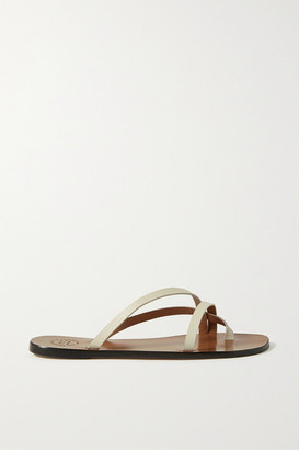 ATP ATELIER Anise Leather Sandals - Ivory