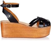 Isabel Marant Zelie wooden flatform sandals