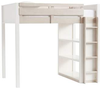Pottery Barn Teen Rhys Loft Bed, Full, Weathered White/Simply White