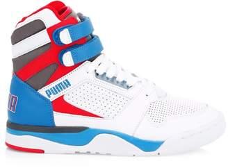 Puma Palace Guard Mid Retro Colorblock High-Top Sneakers