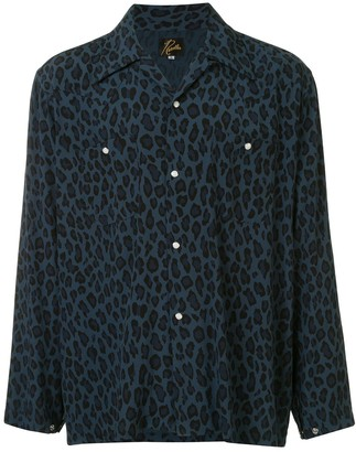 Needles Pointed Collar Leopard Print Shirt